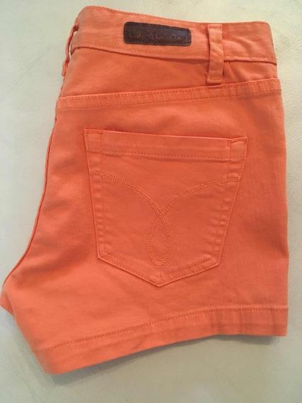 Short De Jeans Color Naranja - Calvin Klein