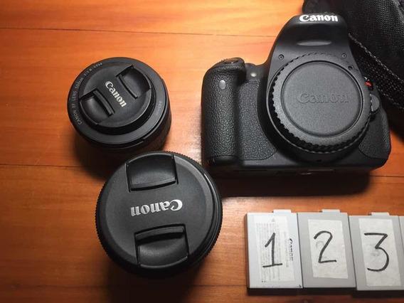Cânon T5i + 2 Lentes + 4 Baterias