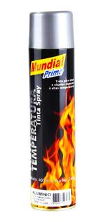 Tinta Spray Alta Temperatura 600 Graus Cor Aluminio 400ml