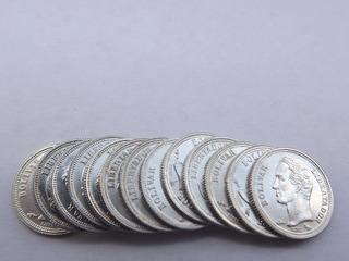 Arras Matrimonio 13 Monedas De Plata 25 Céntimos 1/4 Bolívar