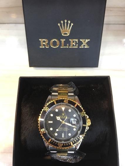 Relógio Masculino Submariner Misto Black Preto E Dourado