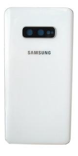 Tapa Samsung S10e Blanco G970 Adhesivos Lente Camara