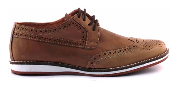 Zapato Hombre Picado Cuero Premium Briganti Sport Hcac00807