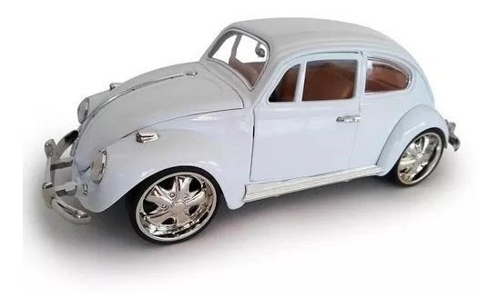 Miniatura Fusca Tuning 1 :18 Vw Beetle 1967 Carros Metal