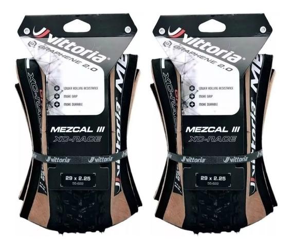 2 Pneus Vittoria Mezcal 3 Xc Race Graphene 2.0 4c 29 X 2.25