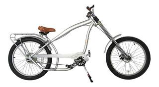 Bicicleta Chopper Estilo Nirve Prata