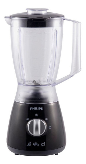Licuadora 2lt 400w 2vel +pulsador Negra Philips Hr-2009 4242