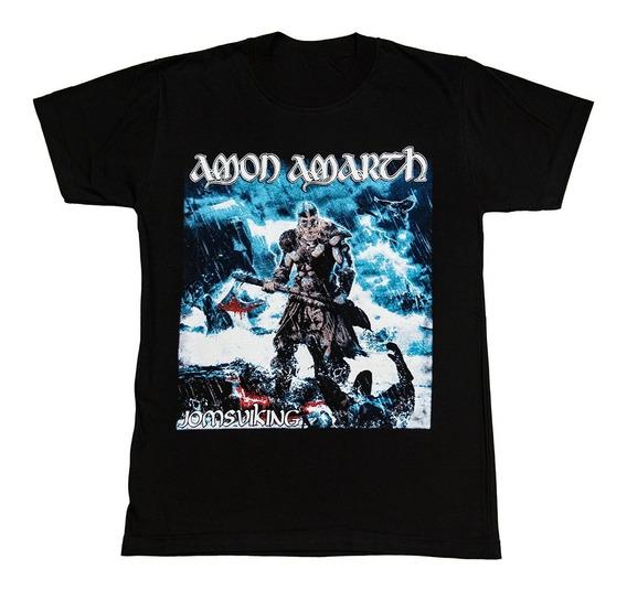 Amon Amarth Remera Algodon Premium - Envios A Todo El Pais - Jomsviking - Serigrafia