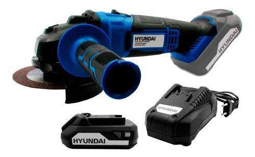 Kit Hyundai Amoladora Angular + Bateria 2,0ah + Cargador Sti