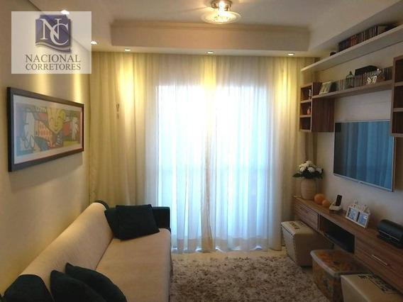 Apartamento Com 2 Dormitórios À Venda, 53 M² Por R$ 220.000 - Parque Das Nações - Santo André/sp - Ap6385