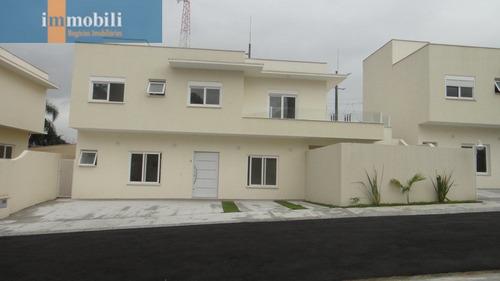 Imagem 1 de 15 de Linda Casa Nova Em Condomínio  - Gv17949