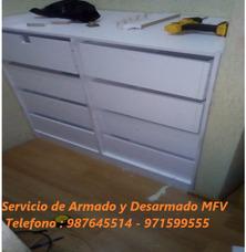 Armado, Desarmado,reparo Y Pinto Muebles Melamina,madera