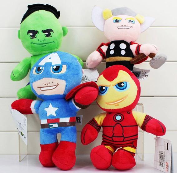 Bonecos Pelúcias Avengers Marvel 25cm Menino Super Herói