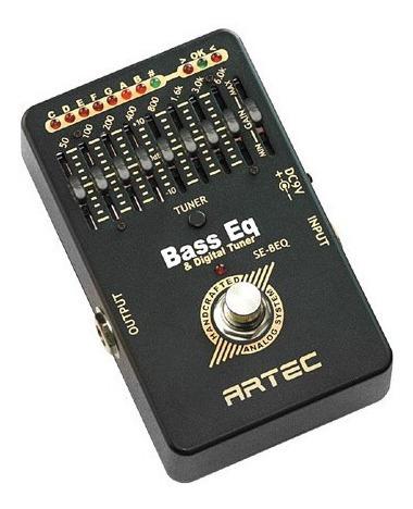 Artec Se-beq Pedal Equalizador Y Afinador Para Bajo Audio+