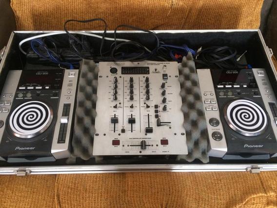 Kit Dj = Cdj 200 Pioneer + Mixer Behringer Dx 626 + Case.!