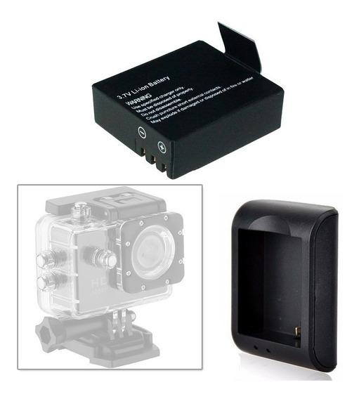 Carregador E Bateria Camera Sports Cam Sj4000 Universal