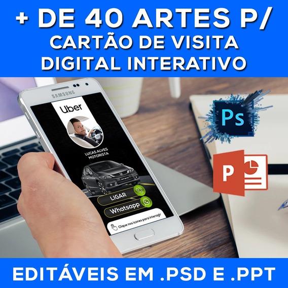 Pacote De Artes Para Cartão De Visita Digital Interativo