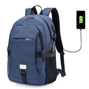 Mochila Antirrobo Impermiable Para Laptop Cable Usb Y Aux