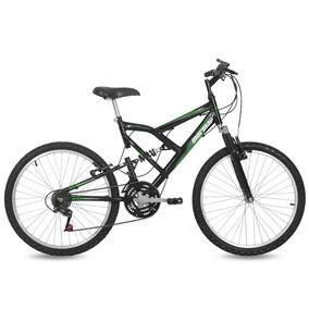 Bicicleta Full Big Rider Mormaii Aro 24 Preto Brilhante