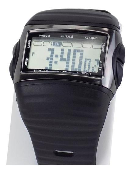 Relógio Unissex Digital Preto Á Prova D´água C/ Nf - Krs30