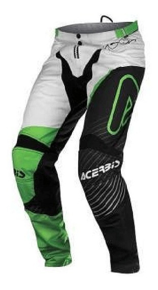Pantalon Cross Acerbis Impact Verde-blanco / Lavalle Motos