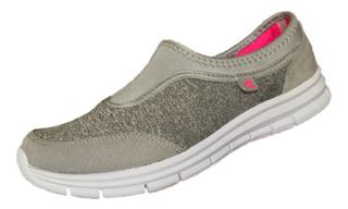 Tenis Charly Mujer 1044422 Gris Textil Deportivo Running