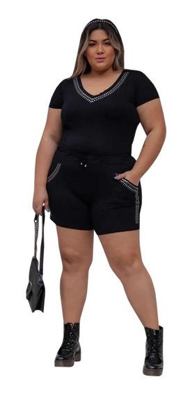 Conjuntinho Promoção Liquidação Moda Feminina Shorts Blusa