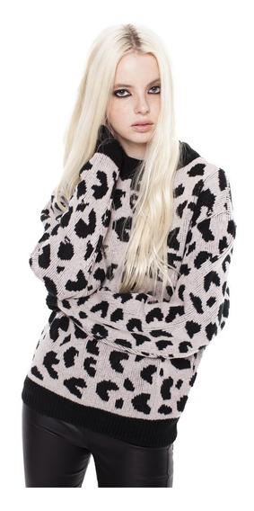 Sweater Miller Jackard Cuello Redondo Mujer Complot