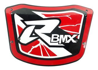 Placa De Guidão Para Bicicleta Bmx Vermelha