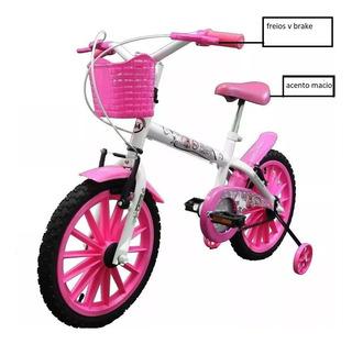 Bicicleta Pinky- Rosa-branca Infantil Aro 16