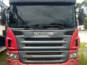 Scania P-340 Vermelha 10/10 Gustavo-caminhões Cegonha Top!!!