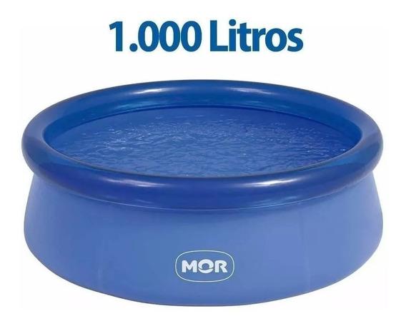 Piscina Inflável Redonda 1000 Litros + Kit Reparo Mor