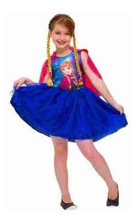 Fantasia Anna Frozen Disney Com Tranças Tamanho G Rubies