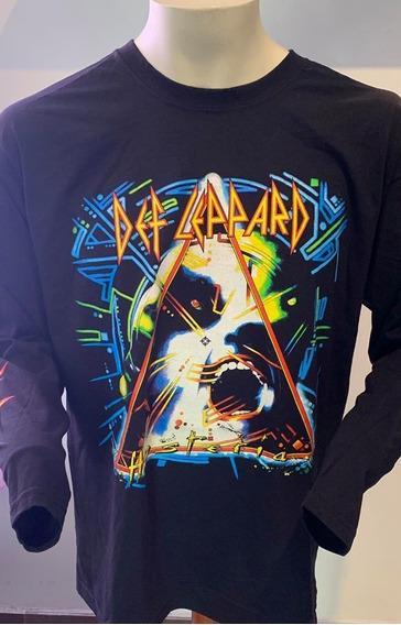 Def Leppard Hysteria Long Sleeve T-shirt Merch Official Imp