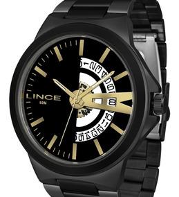 Relógio Lince Grande Masculino Preto Mrn4575s P1px + Nota
