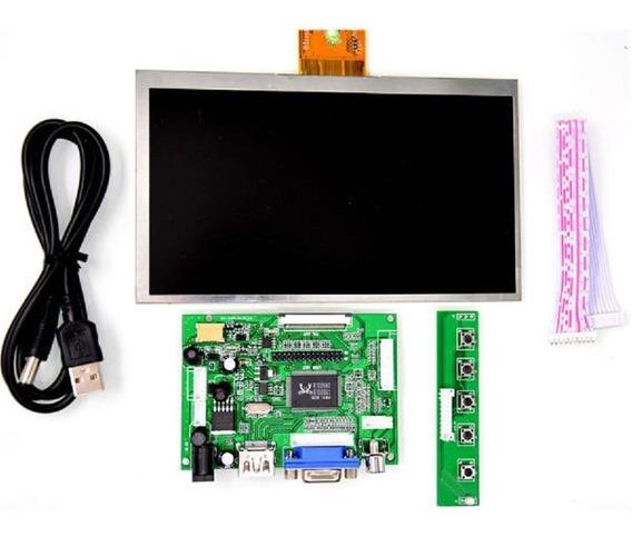 Pantalla 7 Raspberry Lcd Hdmi Vga Controladora Botonera Usb