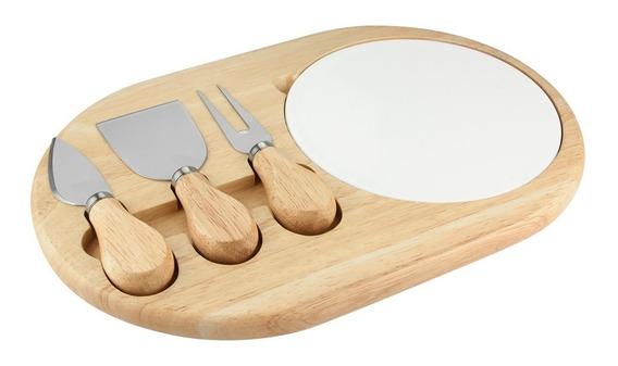 Set Castadel Accesorios Cocina Tabla Madera Ceramica