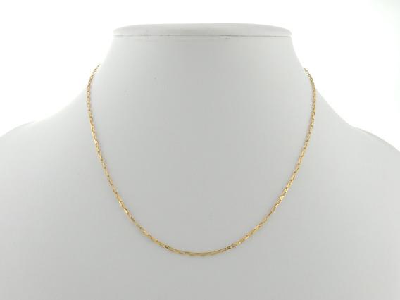Cordão Masculino Cadeado 50 Cm Ouro 18k 750 Certificado