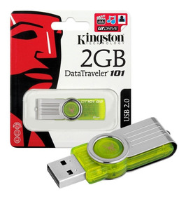 Pen Drive Kingston 2gb Usb 2.0 Datatraveler 101 G2 Verde