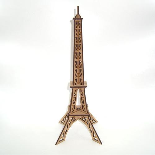 Imagen 1 de 3 de 10 Centros De Mesa Rompecabezas Torre Eiffel Paris Mdf 32cm
