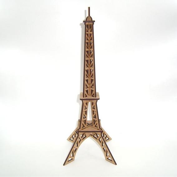 10 Centros De Mesa Rompecabezas Torre Eiffel Paris Mdf 32cm