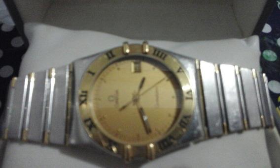 Relógio Ômega Aço E Ouro
