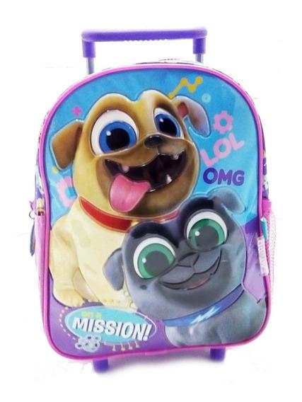 Mochila Puppy Dogs Pals Disney Junior Jardin Con Carro 12 Pu
