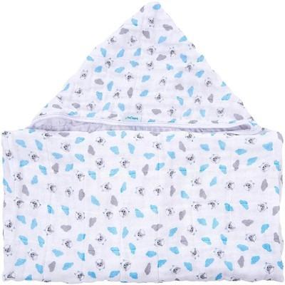 Toalha Com Capuz De Canto Ovelhinha Azul - Baby Joy
