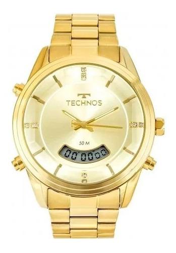 Relógio Technos Fashion Dourado T200aj/4x Ana-digi