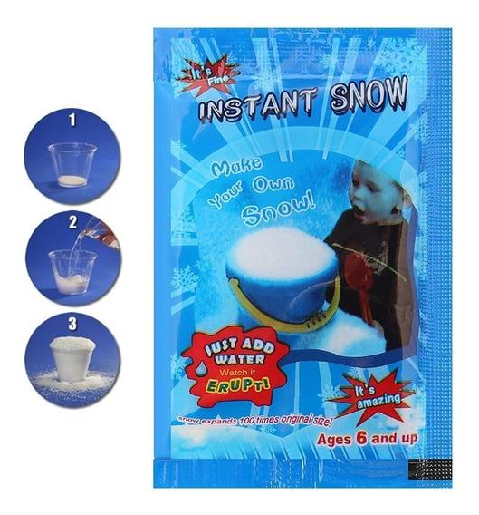 25x Neve Artificial Instantânea Slime Decoração Natal Frozen