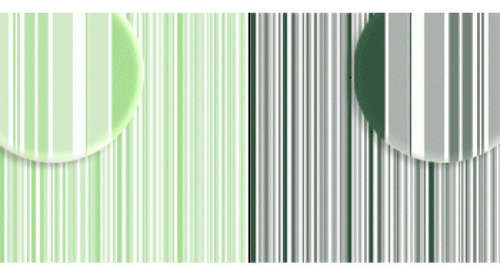 Imagem 1 de 2 de Repeteco - Duo Básico Listras Verde Claro/v.escuro - Hortelã