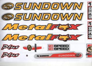 Adesivo Para Bicicleta Sundown Metal Fox Amatelo