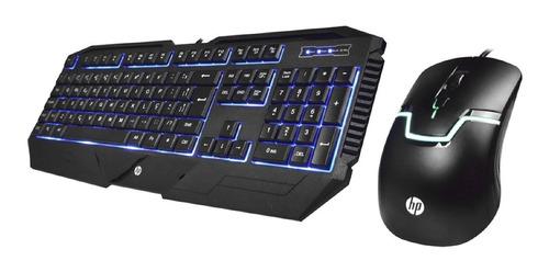 Imagem 1 de 4 de Kit Teclado E Mouse Usb Gamer Gk1100 Preto