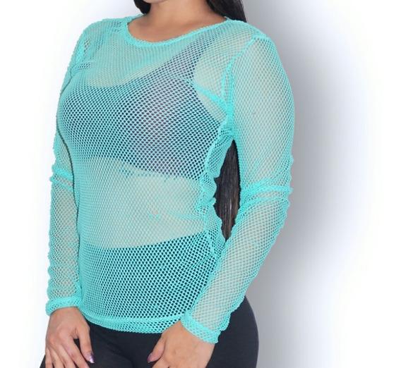 Sweater Deportivo De Malla Para Damas